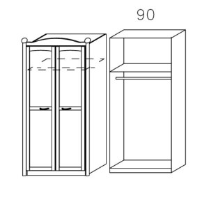 3791 Drehtürenschrank 2-türig
