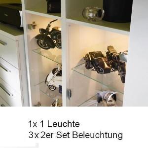 7x Leuchte (1x 9L1A 1er Set, 3x 9L2A 2er Set)