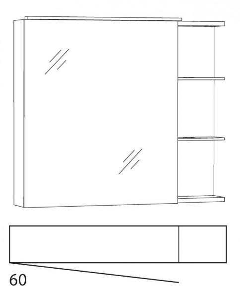 Marlin Azure Spiegelschrank 80 cm SFLAR8