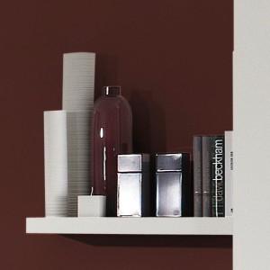 0414 Ablageboard schmal / Farbe weiß matt