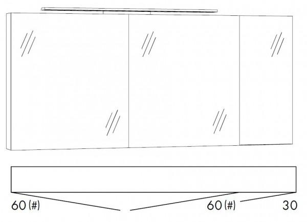 Marlin Bad 3160 - Motion Spiegelschrank 150 cm SFLS663 / SFLZ663