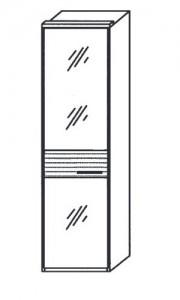 151 - 1 bronzierte Spiegeltür links angeschlagen