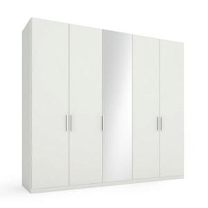 5828 Drehtürenschrank mit 1 Spiegeltür mittig - Breite 250 cm