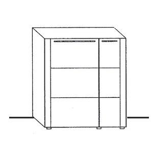 U6-301MR - schmale Tür rechts, breite Tür links