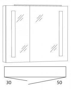 Spiegelschrank 80 cm SFLS8R