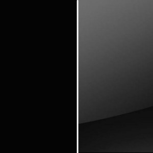 Korpus schwarz matt / Front Farbglas schwarz
