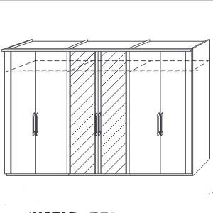 rauch dialog dreht renschrank iris h he 197 cm g nstig kaufen m bel universum. Black Bedroom Furniture Sets. Home Design Ideas
