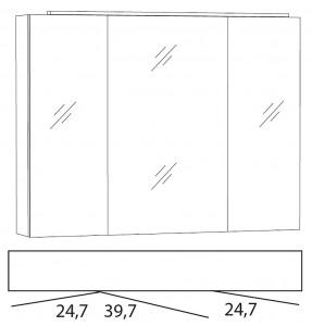 Spiegelschrank 90 cm SLLB9