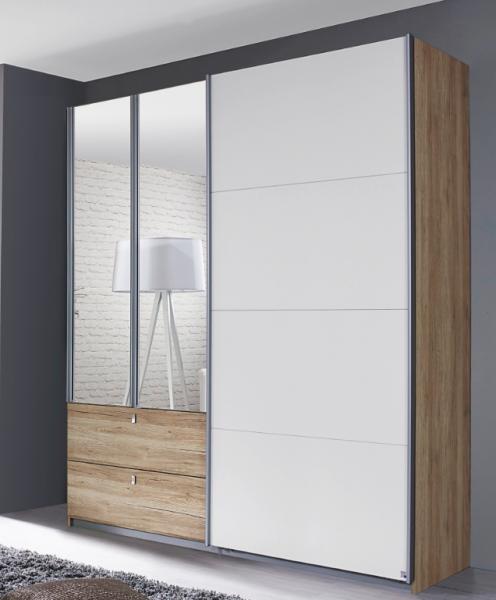 Rauch Packs Kombino Kombi-Schwebetürenschrank mit Spiegeltüren