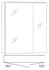 Spiegelschrank 60 cm SLLB6