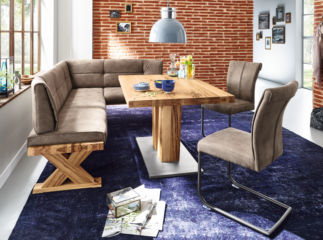 niehoff eckbank alexa mit esstisch und zwei st hlen g nstig kaufen m bel universum. Black Bedroom Furniture Sets. Home Design Ideas