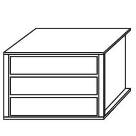 9S2D - Schubkasteneinsatz / 3 Schubkästen / Holzfront