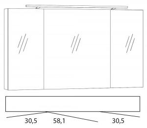 Spiegelschrank 120 cm SPSE120D-4