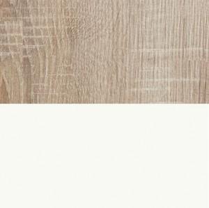 Front: Bianco weiß Hochglanz / Korpus: Eiche Macao Holznachbildung