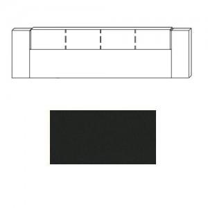 80FD Kopfteil Einlage Lederoptik-schwarz