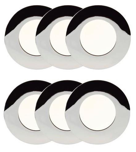 AEG Orbita Easydim LED-Einbauleuchte 6er-Set Chrom AEG191138