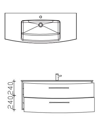 Pelipal Solitaire 7025 Waschtisch-Set 121 cm - Einzel