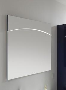 9020-FSP 01 Flächenspiegel inkl. LED-Lichtprofil in der Spiegelfläche