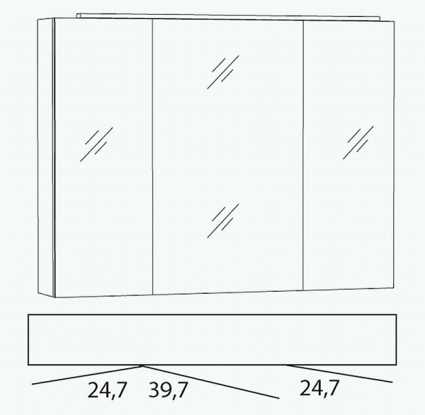 Marlin Bad 3040 - City Plus Spiegelschrank 90 cm SLLB9