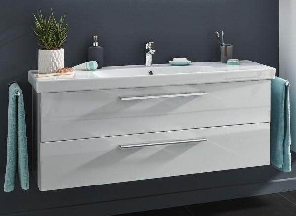 Puris Fine Line Waschplatz 125 cm mit Keramik- oder Mineralgussbecken