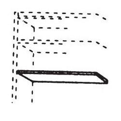 565037 Einlegeboden für Kleiderschrank 1-türig, Breite 47,6 cm