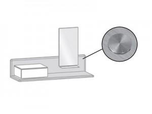 Sensorschalter für Beimöbel LED-Beleuchtung mit Dimmfunktion (max.30 W) wird in den Oberboden eingelassen, inkl. Vorschaltgerät und Anschlußkabel