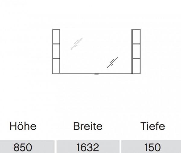 Pelipal Solitaire 9025 Flächenspiegel 163 cm mit LED-Beleuchtung / 9025-SP 04