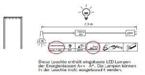 3869 Passepartoutrahmen mit Beleuchtung für Schwebetürenschrank 239 cm / Breite 250 cm / Höhe 227 cm / Tiefe 71 cm