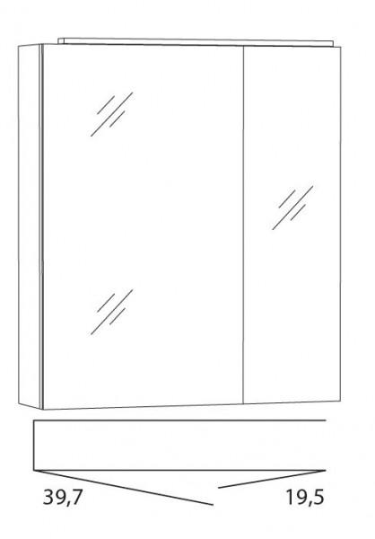 Marlin Bad 3040 - City Plus Spiegelschrank 60 cm SLLB6