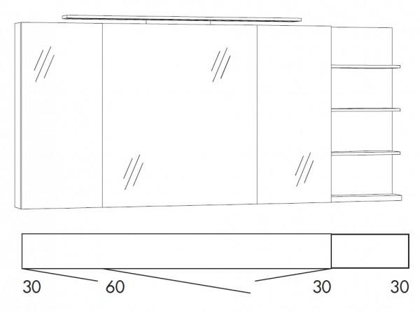 Marlin Bad 3160 - Motion Spiegelschrank 150 cm SFLS363R / SFLS363RLS / SFLZ363R / SFLZ363RLS