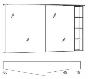 marlin bad 3090 cosmo block 120 cm konfigurator g nstig kaufen m bel universum. Black Bedroom Furniture Sets. Home Design Ideas