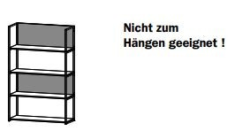 6909 Regal-Element / Breite 80 cm / Höhe 140 cm / Tiefe 32 cm