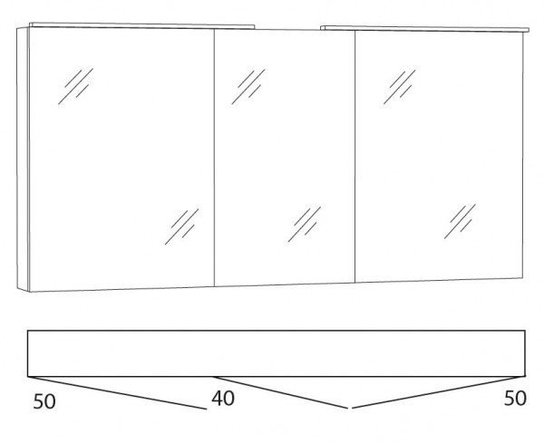 Marlin Azure Spiegelschrank 140 cm SFLA14