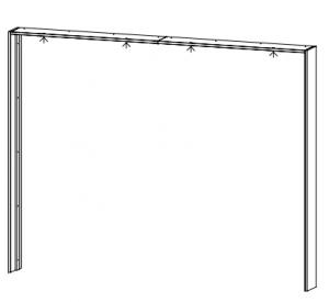 Passepartout-Rahmen OHNE Beleuchtung für die Schrankbreite 271 cm