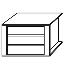 98BD - Schubkasteneinsatz / 3 Schubkästen /Brreite 90 / Holzfront