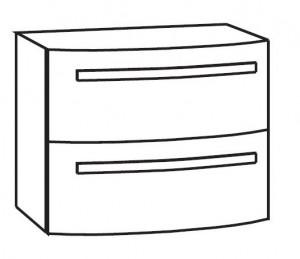 Waschtischunterschrank 60 cm WUAR62D