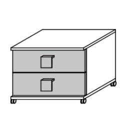 6920 Nachttisch/Rollcontainer