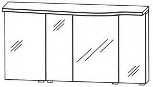 Spiegelschrank 140 cm SET40143L
