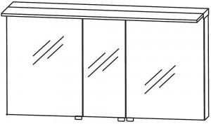Spiegelschrank 140 cm S2A431477 - für Doppelwaschtisch-Lösung