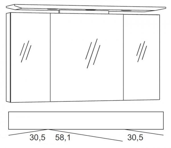 Marlin Bad 3040 - CityPlus Spiegelschrank 120 cm SPLG120D-4
