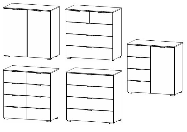 Rauch Select yourJOYce Kommoden / Breite 80 cm / Höhe 81 cm / verschiedene Ausführungen