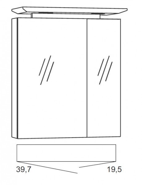 Marlin Bad 3040 - CityPlus Spiegelschrank 60 cm SPLG600D-4