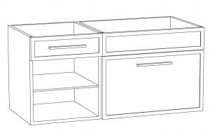Waschtischunterschrank DWMDASR10 (100 cm)