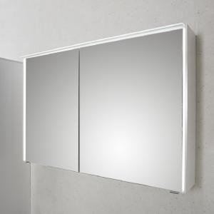 mit 6010-SPSB 03 Spiegelschrank mit LED-Lichtkranz oben, LED-Profil seitlich