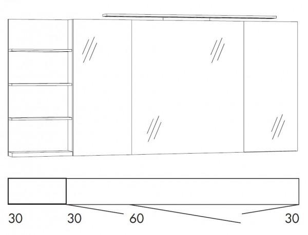 Marlin Bad 3160 - Motion Spiegelschrank 150 cm SFLSR363 / SFLSR363LS / SFLZR363 / SFLZR363LS