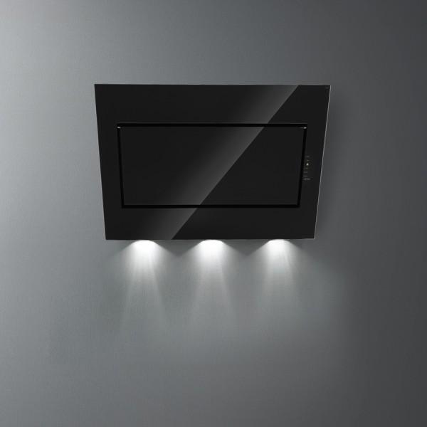 Falmec Quasar A+, schwarz, Wandhaube, 90 cm