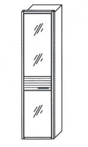 251 - 1 bronzierte Spiegeltür links angeschlagen