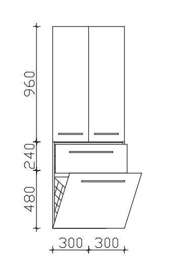 Pelipal Neutraler Hochschrank Mit Wäschekippe 60 Cm Breit