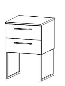 Rauch Select Timberstyle Nachttisch mit Kufe 64C1