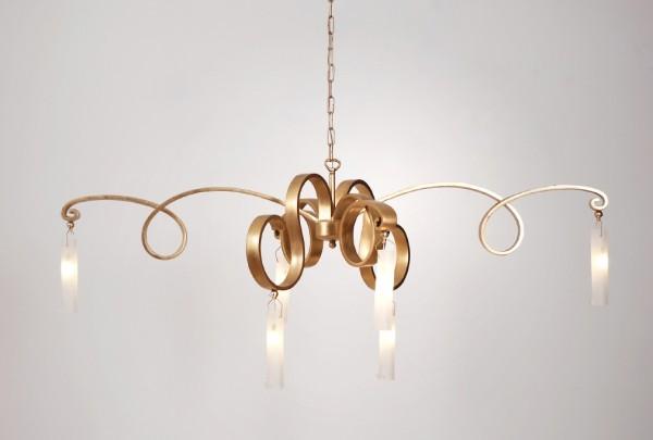 Holländer Hängeleuchte Serpentinen Gold 300 K 15127